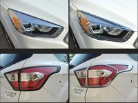 ABS Chrome Car Front Headlight + Rear Tail Light Lamp Cover Trim For 17 18 Ford Kuga 2017 2018