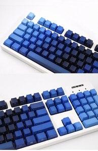 Image 3 - 青、緑の色勾配キーキャップpbt 104 108 標準ansi oemプロファイルサイドプリントチェリーmxスイッチメカニカルキーボード
