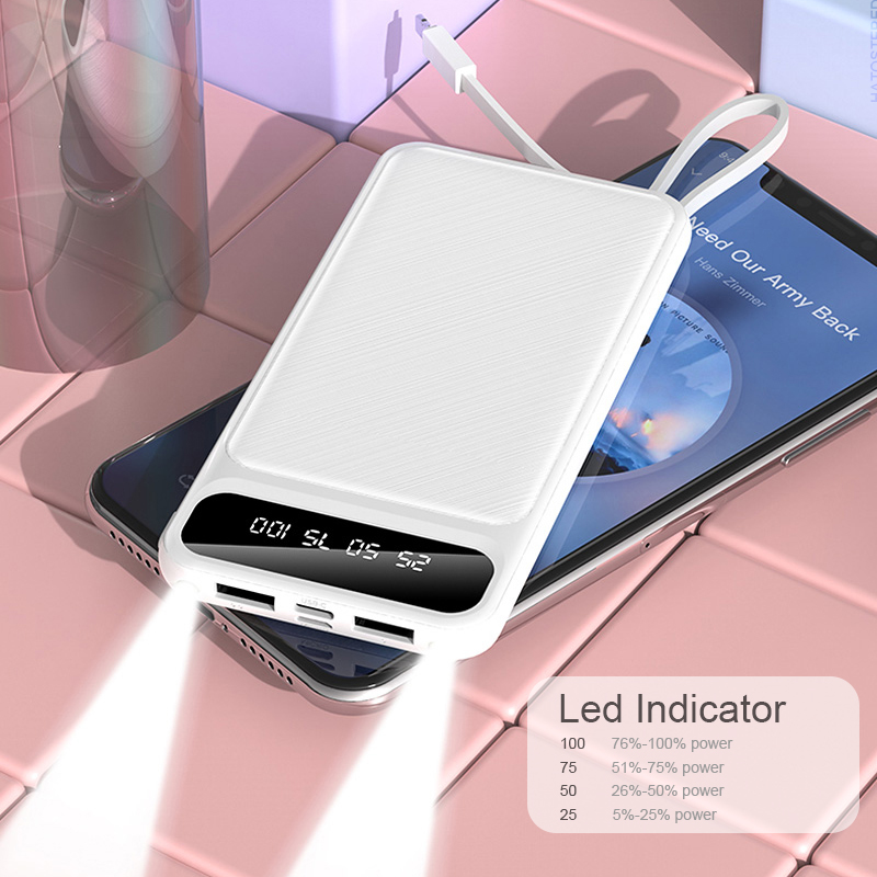 Portable 10000mAh Charging Power Bank For Xiaomi iPhone Samsung Mobile Phone 2