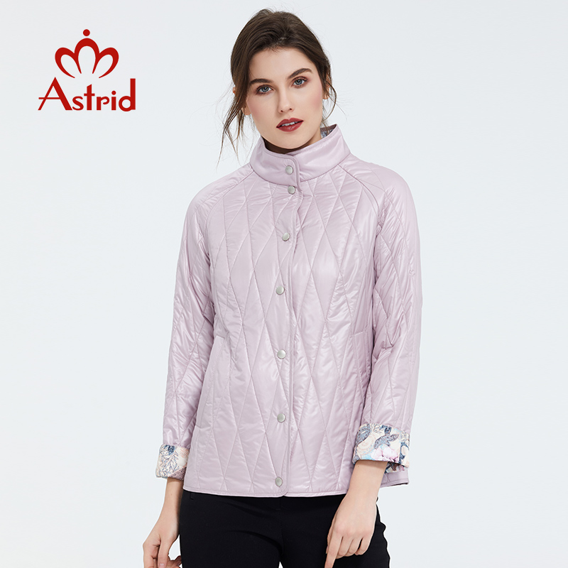 Astrid 2020 New  Spring Fashion Short Women Coat Stand Collar High Quality Female Outwear Trend Urban Thin Jacket ZM-9423