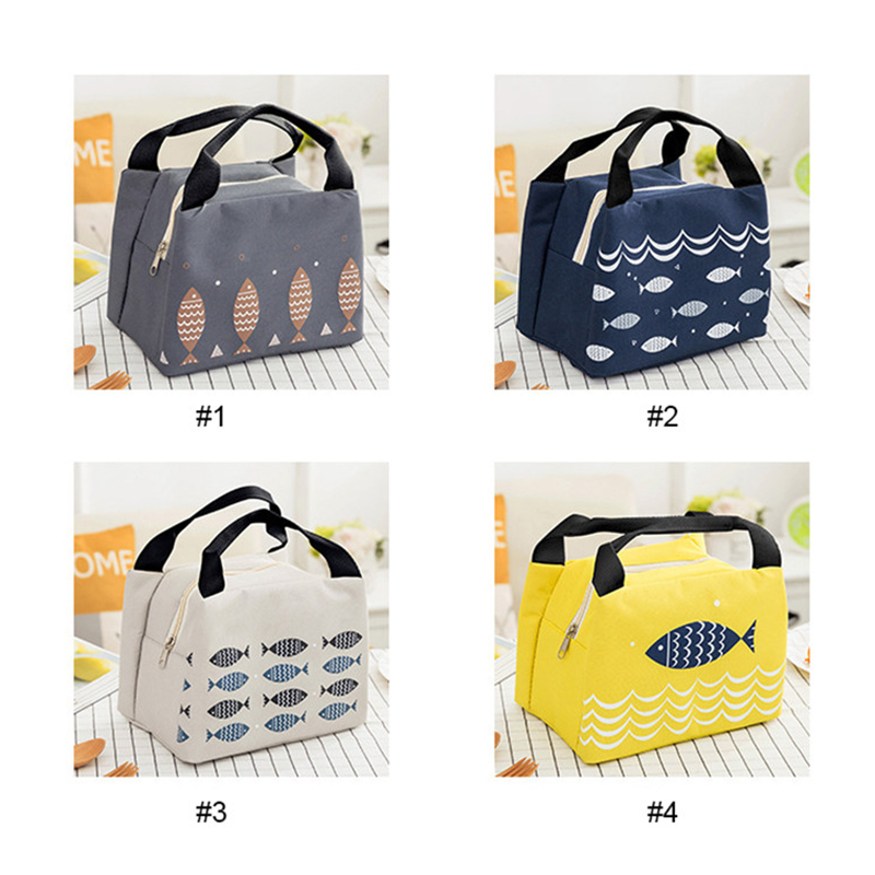 Waterproof Insulated Lunch Bag Thermal Stripe Tote Bags Cooler Picnic Food Lunch box bag for Women Girls Ladies Kids Children in Lunch Bags from Luggage Bags