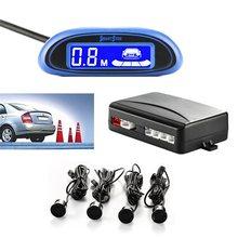 1pc samochód Auto czujnik Parktronic z 4 czujnikami led pokazuje odległość samochodowy czujnik pomocniczy cofania