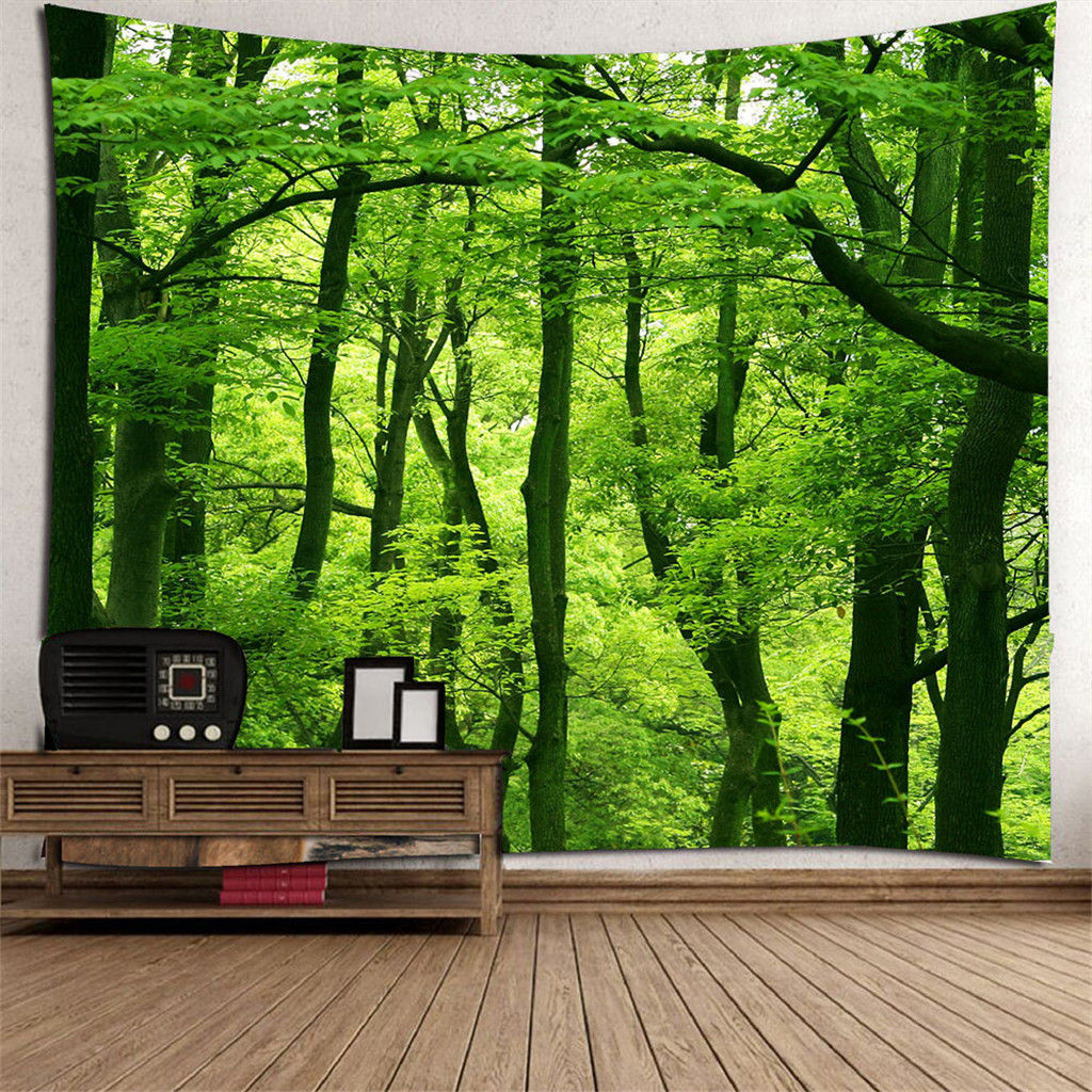 forrest Wall Tapestries Hanging MULTI-FUNCTION Tapestry Bedspread Tapestries New indoor decors background mat d3(China)