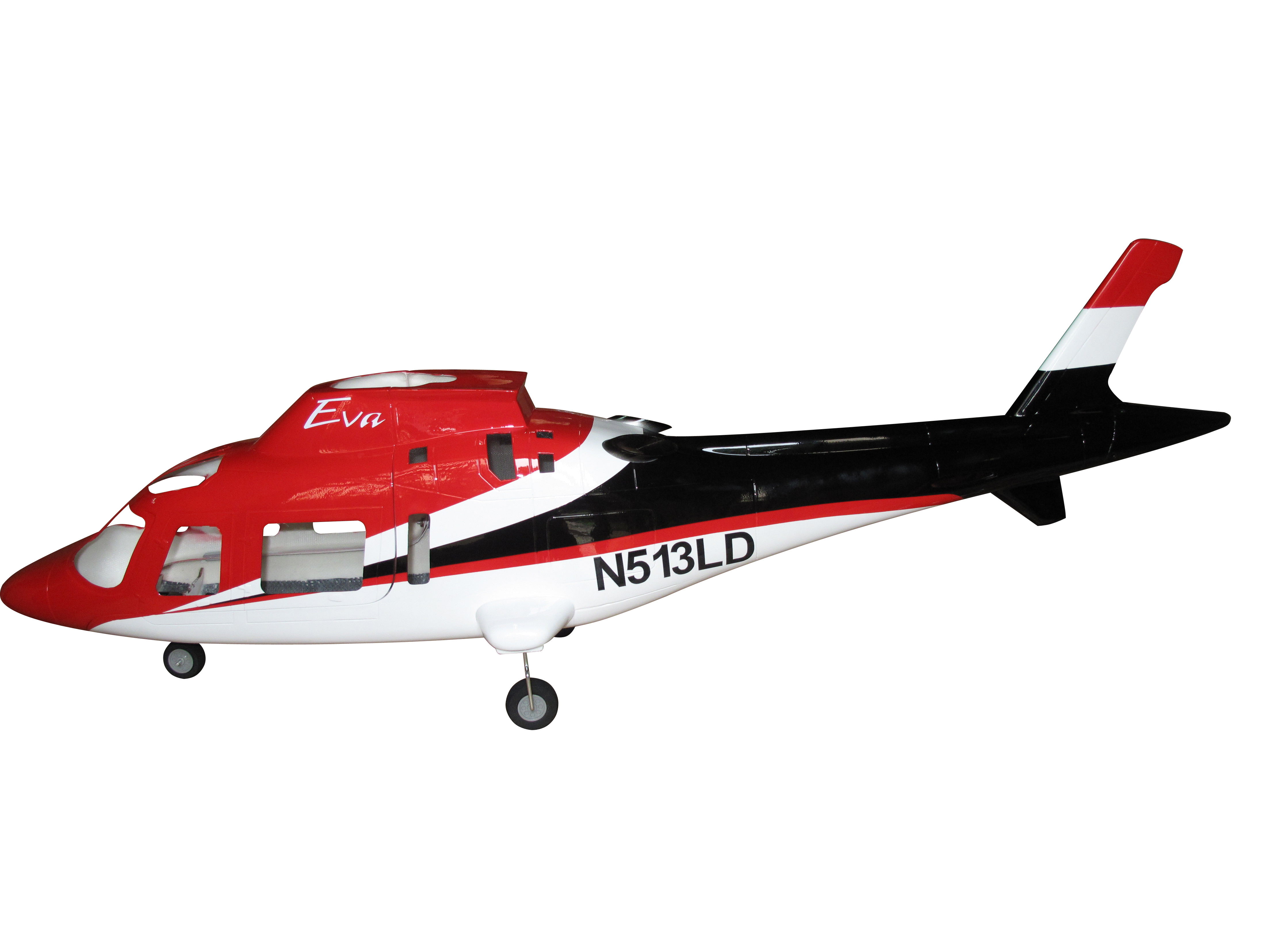Pre-Painted 450 Size A109 A-109 Fiber Glass Fuselage With Retract System Coast Guard For ALIGN T-REX 450 Helicopter Series