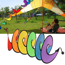 Hot Rainbow Spiral Windmill Tent Colorful Wind Spinner Garden Home Decorations 72XF