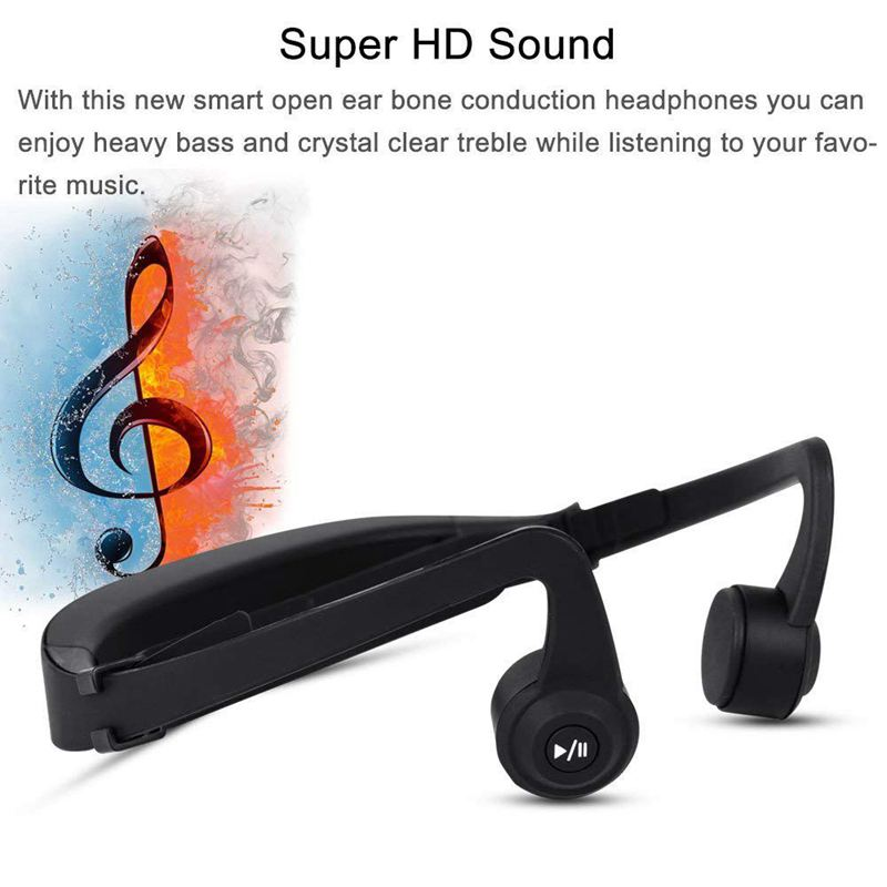 Bone Conduction Headphones Wireless Bluetooth Headset Sport Gym Waterproof Earphones Built in Mic for iPhone X 8 8plus 7 7plus in Bluetooth Earphones Headphones from Consumer Electronics