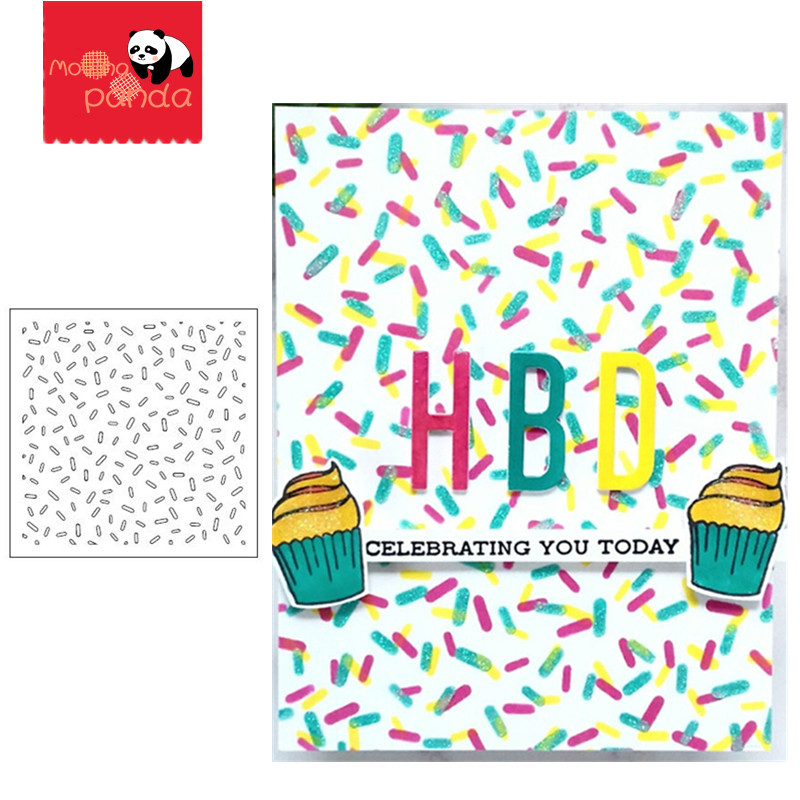 Mixed Sprinkles Stencil Stamp Stencil For Metal Cutting Dies And Stamps Painting Stencil Template Scrapbooking DIY Crafts Paper