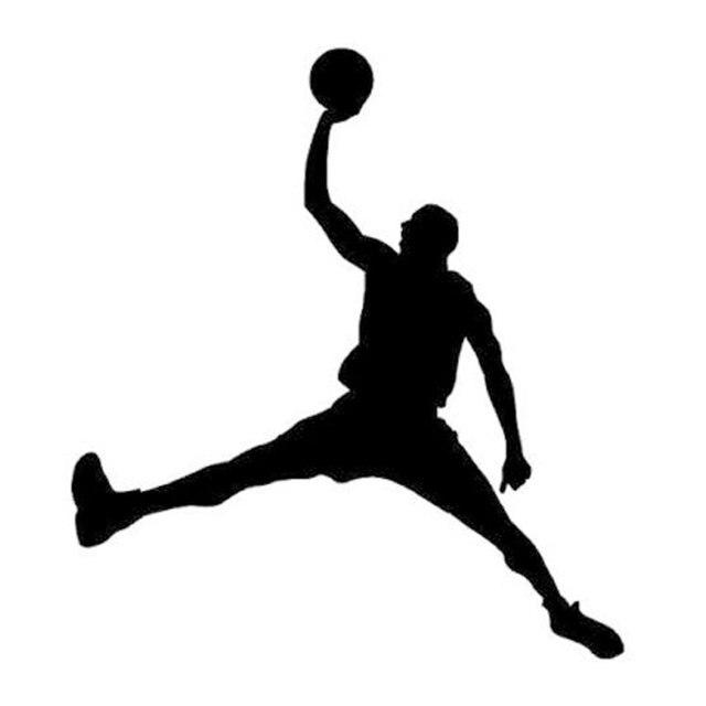 Creative רכב מדבקות ויניל אביזרי ספורט לשחק כדורסל NBA אופנוע מדבקות לרכב חלון רעיוני PVC 15cm X 13cm