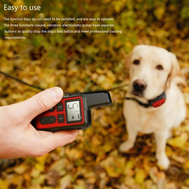 Dla psów obroża treningowa dla zwierząt domowych wodoodporna akumulator Shock dźwięku drgania Anti-kora 500m pilot zdalnego sterowania dla wiele rozmiarów dla psów 40 off tanie i dobre opinie Obroże szkoleniowe Z tworzywa sztucznego PET DOG Training collar blue red black orange collar 500meters Dogs