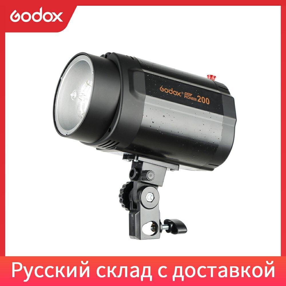 Godox моно светильник 200 Вт для фотостудии, стробоскоп светильник (мини студийная вспышка)|Фотовспышки|   | АлиЭкспресс