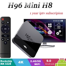 Android Box H96 Mini H8 TV Box Android 9.0 2GB 16GB RK3228 2.4G/5G Wifi BT4.0 4K Google Play Netflix Youtube Media Player tv box 2018 tx2 2gb 16gb rockchip rk3229 android 6 0 tv box wifi media player au plug