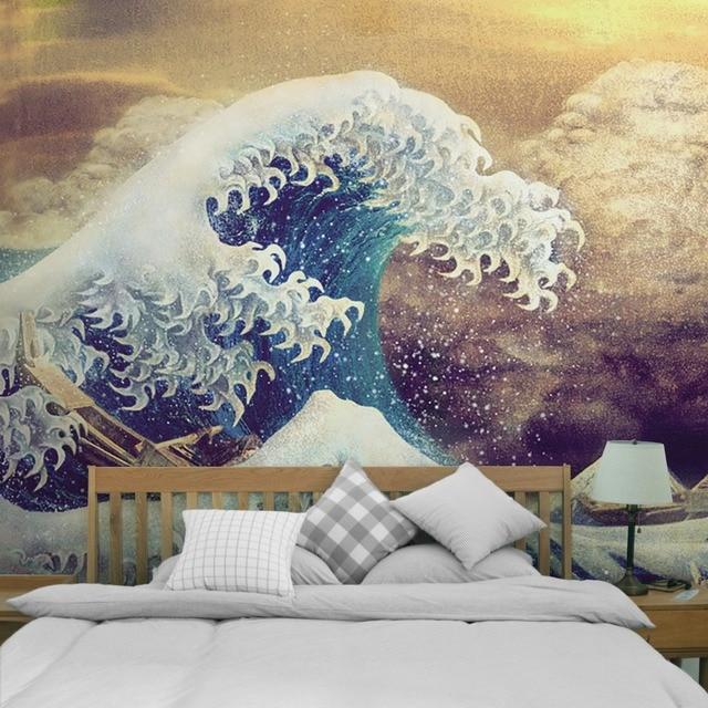Printed Lotus Tapestry Bohemia Boho Mandala Tapestry Wall Hanging Wall Decoration Hippie Tapestry Beach Towel Yoga 5sizes TAP211 5