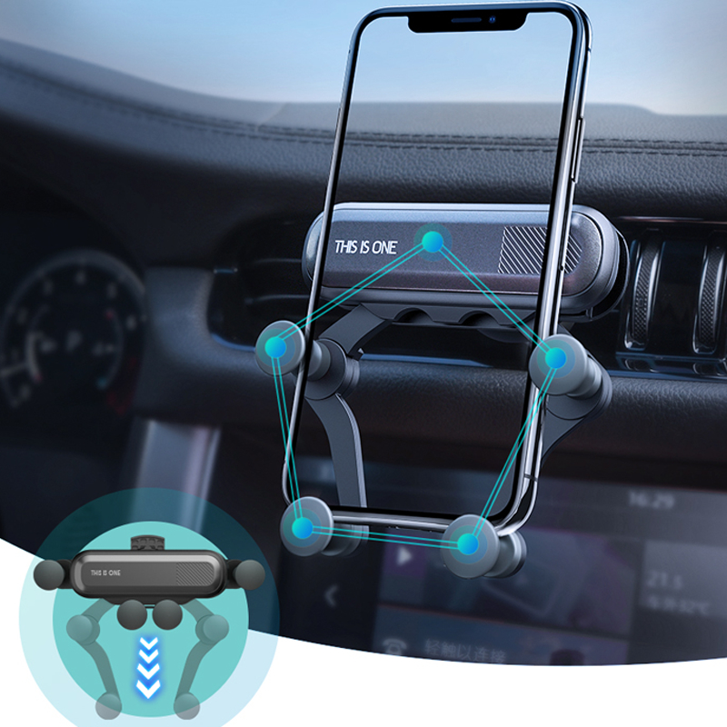 Gravity Car Holder For Phone In Car Air Vent Clip Mount No Magnetic Mobile Phone Holder GPS Stand For IPhone XS MAX For Xiaomi