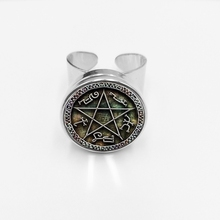 initial/Fashion New Hot Supernatural Buckle Ring Dean Winchester Sam Glass Dome Open Gift