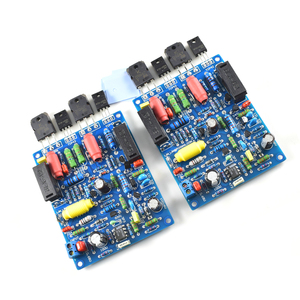 Image 2 - 2 sztuk 2 kanały QUAD405 100W + 100w moc dźwięku płyta wzmacniacza zestaw DIY zmontowana płyta