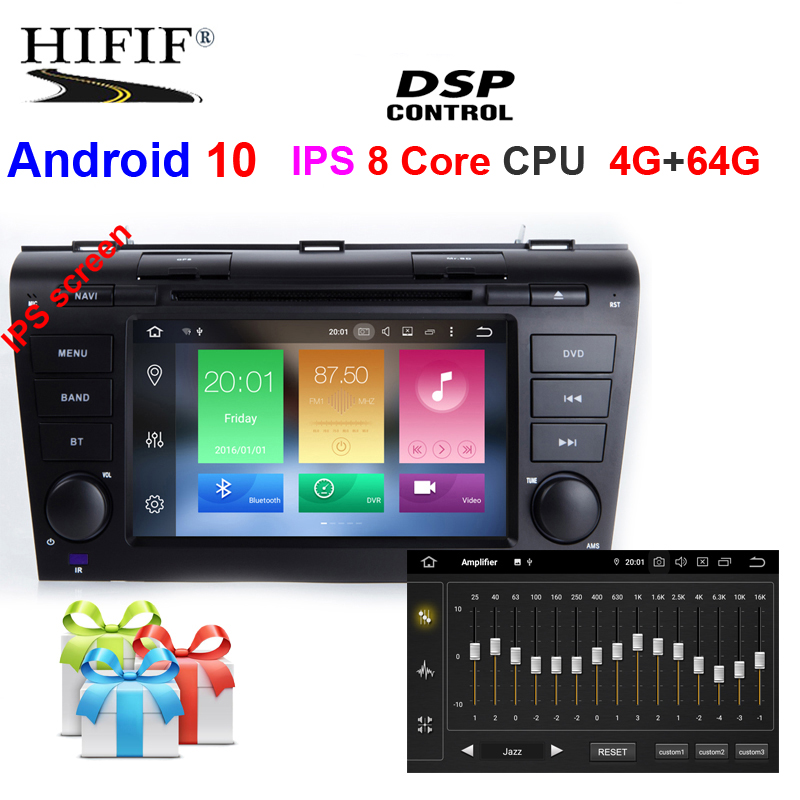 IPS DSP 2 Din Android 10 Car multimedia dvd player GPS For Mazda 3 <font><b>mazda3</b></font> 2004 2005 2006 <font><b>2007</b></font> 2008 2009 car radio stereo canbus image