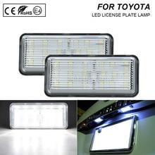 2 sztuk LED światło do tablicy rejestracyjnej jasne światło do toyoty Land Cruiser 100 Prado J120 200 Reiz 4D Mark X Lexus LX470 GX470