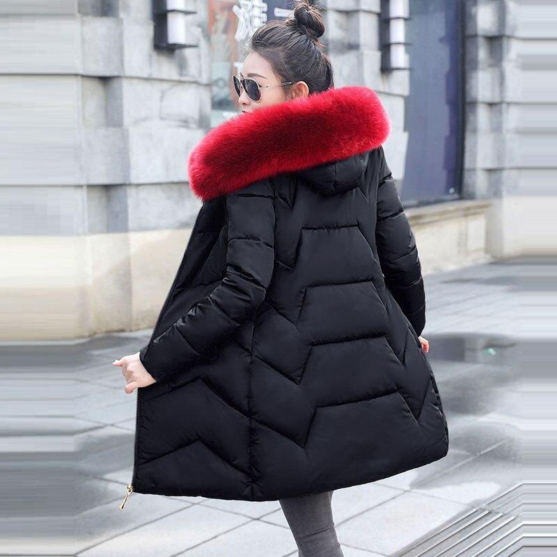 Feilongzaitianba Fashional Women Jacket Hoody Long Style Warm Winter Coat Women Plus Size M~XXXL