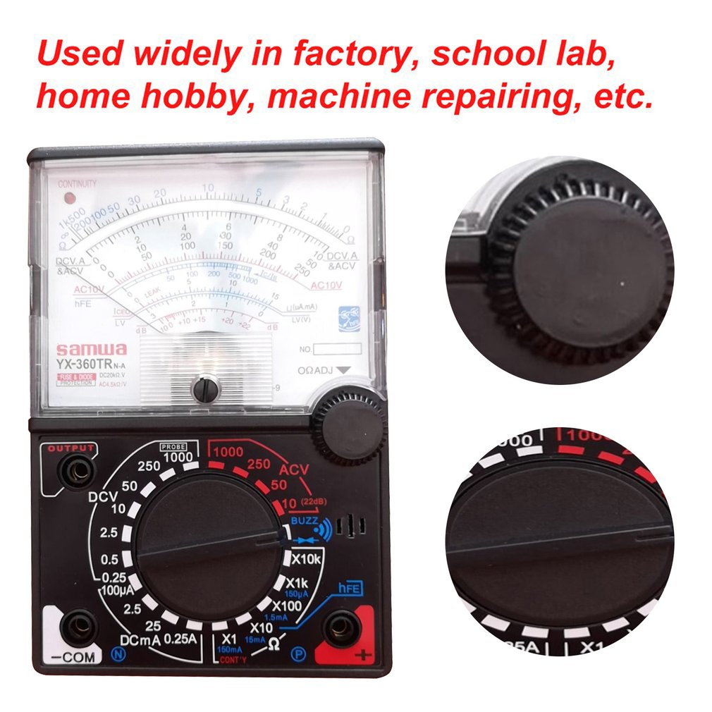 yx 360trn analog multimeter plastic gauge shell ac dc volt ohm current testing mutimeter electrical pointer