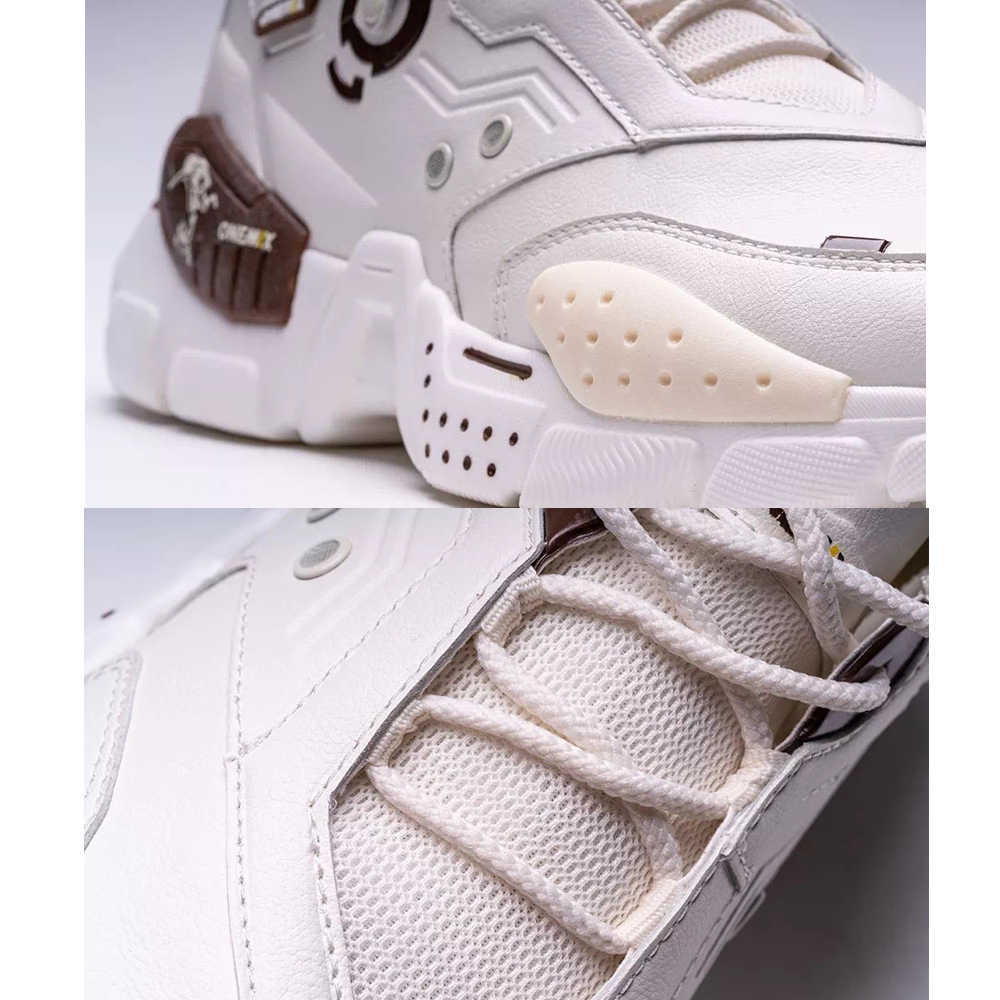 ONEMIX รองเท้าผ้าใบ AIR รองเท้าเบาะหนัง Damping รองเท้ากีฬาเทนนิสกีฬารองเท้าผ้าใบกลางแจ้งรองเท้าวิ่งออกกำลังกาย