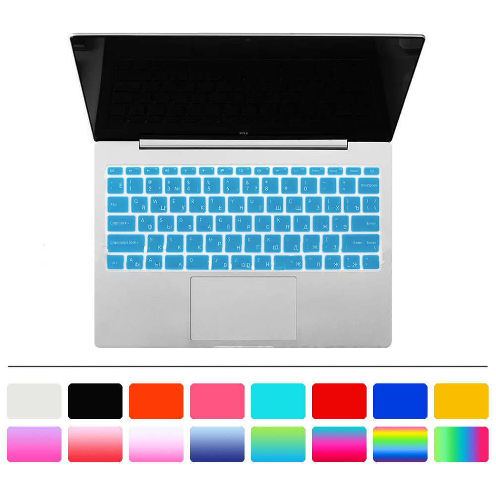 Russian Silicone Colorful Keyboard Cover For Xiaomi Mi Notebook Air 12.5 13.3 Pro 15.6 Sticker Protector Guard Protective Film