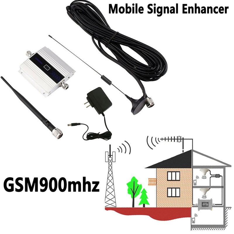 900Mhz GSM 2G/3G/4G Signal Booster MOBILE PHONE Amplifier Repeater Antenna, 900Mhz GSM Amplifier+Antenna For Phone US/EU/UK Plug 1