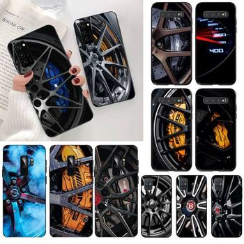 Car Tire Wheel Dashboard Black TPU Soft Rubber Phone Cover for Samsung S20 plus Ultra S6 S7 edge S8 S9 plus S10 5G lite 2020 image