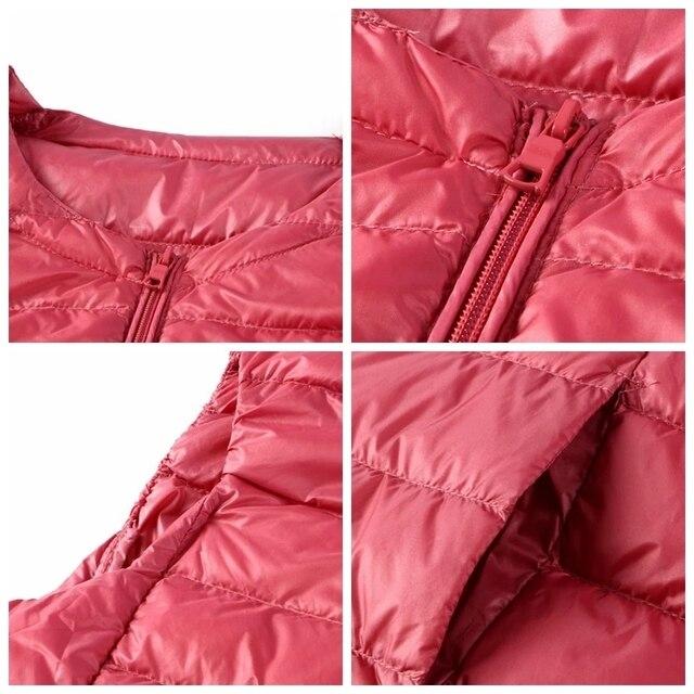 NewBang Brand 6XL 7XL Large Size Waistcoat Women's Warm Vest Ultra Light Down Vest Women Portable Sleeveless Winter Warm Liner 5