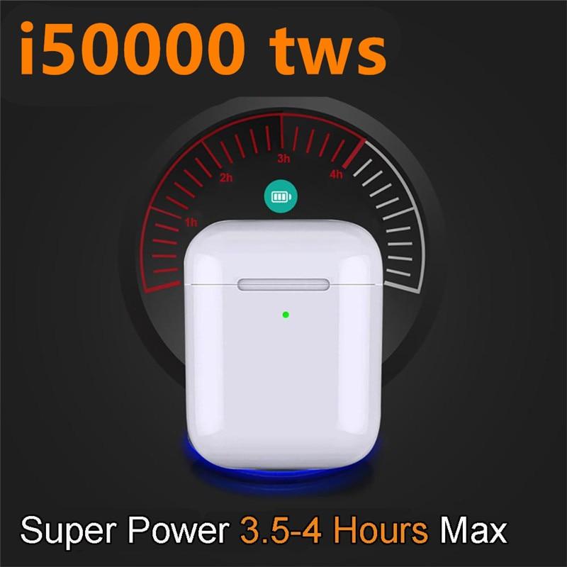 i50000 tws 1:1 support in ear smart sensor Wireless Earphone Super Bass pk i12 i80 i200 i5000 i9000 i30000 tws