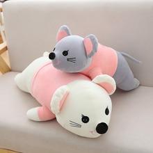 цена на Hot New 60cm-100cm Rat Plush Toys Super Cute Toy Cartoon Mouse Pillow Cushion Couple Stuffed Doll Kids Birthday Christmas Gift