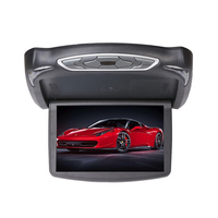 13.3 Car Monitor Flip Down DVD/MP3 Player Car Top Roof Flip Down Slim Overhead DVD Monitor Support USB/SD/IR/FM Function