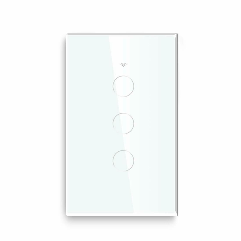 Smart WiFi 3 Gang Light Switch Touch-Panel For Amazon Alexa Google Home