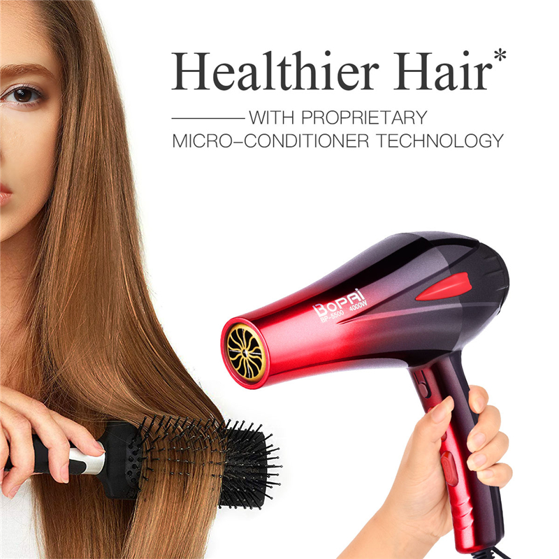 Professional Hair Dryer 4000W Strong Power Blow Dryer Hairdressing Barber Salon Tools Household Travel Hairdryer With Nozzle P40