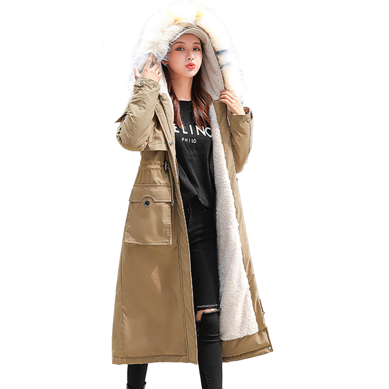 Winter Coat 2019 Fashion Thick Long Jacket Overcoat Female Solid Warm Trench Coats