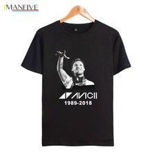 New Arrival AVICII T shirt Men/Women Summer Print Short Sleeeve Cotton T-shirt Women Funny Hip Hop Top Tees Streetwear
