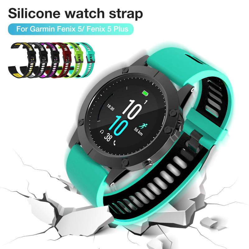 Waterproof Strap For Garmin Fenix 5/Plus 22mm Wrist Watch Band Bracelet Smart Bracelet Colorful Silicone Soft Accessories