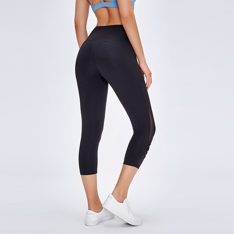 NWT Running Sexy Capris Sport Workout Gym Tights Womenl Buttery-soft Yoga Fitness 7/8 Length Legging Inseam 21