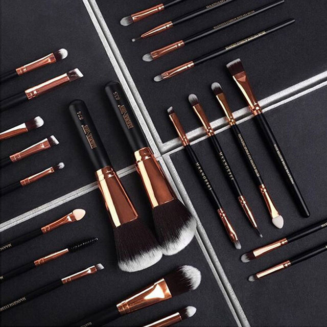 20/22Pcs Beauty Makeup Brushes Set Cosmetic Foundation Powder Blush Eye Shadow Lip Blend Make Up Brush Tool Kit MENGSHANG MAANGE 2