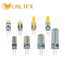 цена на LKLTFX  AC/DC 12V G4 LED lamp corn Bulb COB 0705 1505 AC220V/230V SMD 3014  G4 LED light 360 degrees Beam Angle spotlight