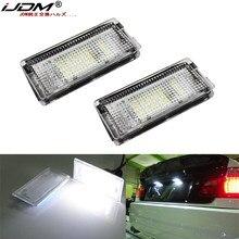 Ijdm12v conduziu a luz da placa de licença do número lâmpadas led branco canbus carro nenhum erro luzes da placa de licença do carro para bmw e46 4d 1998-2003