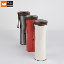 Xiaomi Kiss Kiss Fish OLED Touch Screen Mug Moka Smart Coffee Tumbler Double Thermos Stainless Steel Vacuum Cup For Smart Home(China)