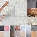 Настенные 3d-наклейки с имитацией кирпича, украшение для спальни, водонепроницаемые самоклеящиеся обои для гостиной, кухни, Настенный декор,...