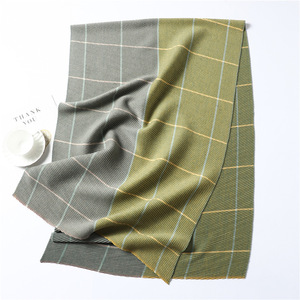 Image 5 - Lady Winter Cashmere Scarf for Women Plaid Solid Pashmina Scarves Crinkle Thick Wool Knit Unisex Neck Scarfs Stole