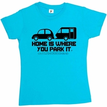 Home Is Where You Park It Holiday Womens Boyfriend Fit T-Shirt