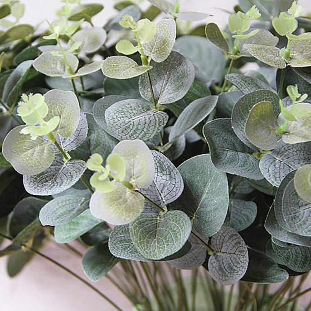 Buatan Palsu Daun Kayu Putih Meninggalkan Simulasi Daun Pesta Pernikahan Rumah Dekorasi DIY Bunga Pengaturan Tanaman Imitasi Dedaunan