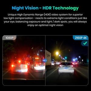 Image 2 - Junsun S590 WiFi 4K araba Dash kamera Ultra HD 2160P 60fps GPS ADAS DVR kamera kaydedici Sony 323 arka kamera 1080P gece görüş