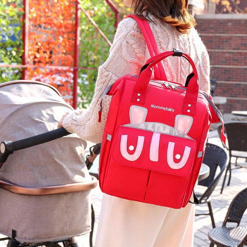 New Style Diaper Bag Multi-functional Large-Volume-Style Backpack Women's Infant Nursing Hand Mom MOTHER'S Bag