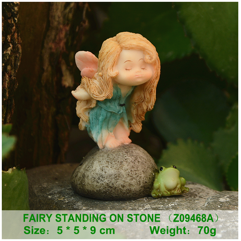 Everyday Collection Leaf Fairy Angel Figurine Baby Outdoor Statue//Miniature