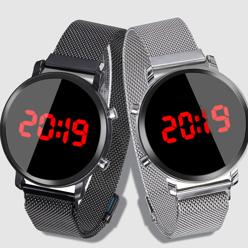 Fashion Casual Children Watches Stainless Steel Watch LED Watch Kids Wristwatch For Children Big Dial Digital Watches Reloj Ni O