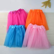 Fashion Baby 3 Layer Children Kids Girls Elastic Band Gauze Dance Ballet Princess Skirt Ballet Dance Costume One Size(China)